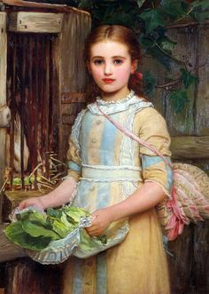 In The Orangery. Charles Edward Perugini (1839.