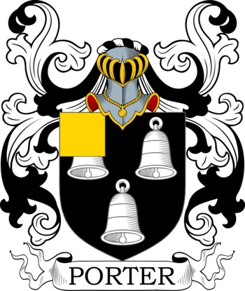 Porter Coat of Arms Meanings and Family Crest Artwork.