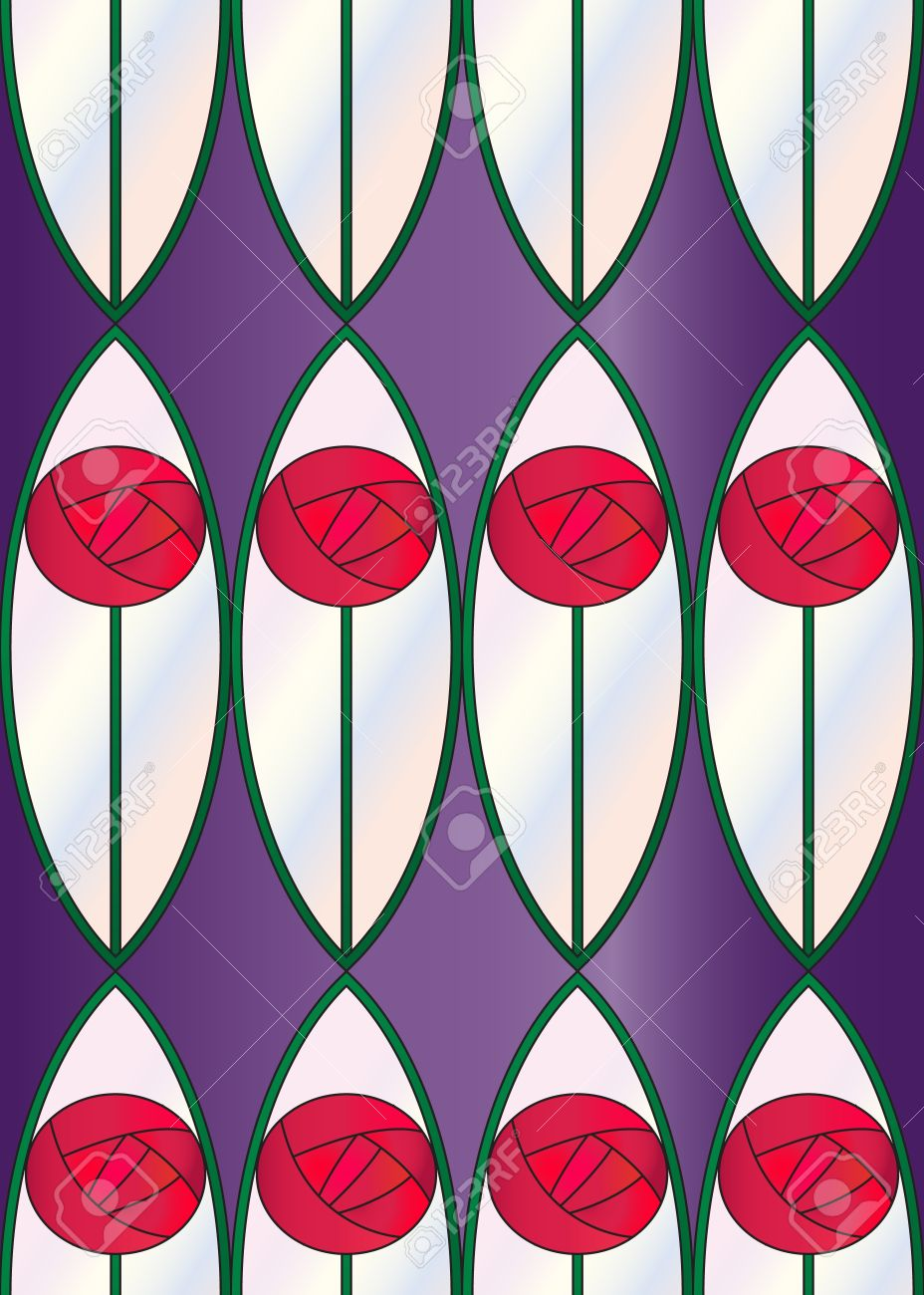 Charles Rennie Mackintosh Clipart Designs.