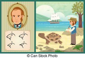 Clip Art of Charles Darwin.