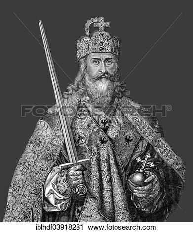 """Stock Photography of """"Charlemagne or Charles the Great with the."""