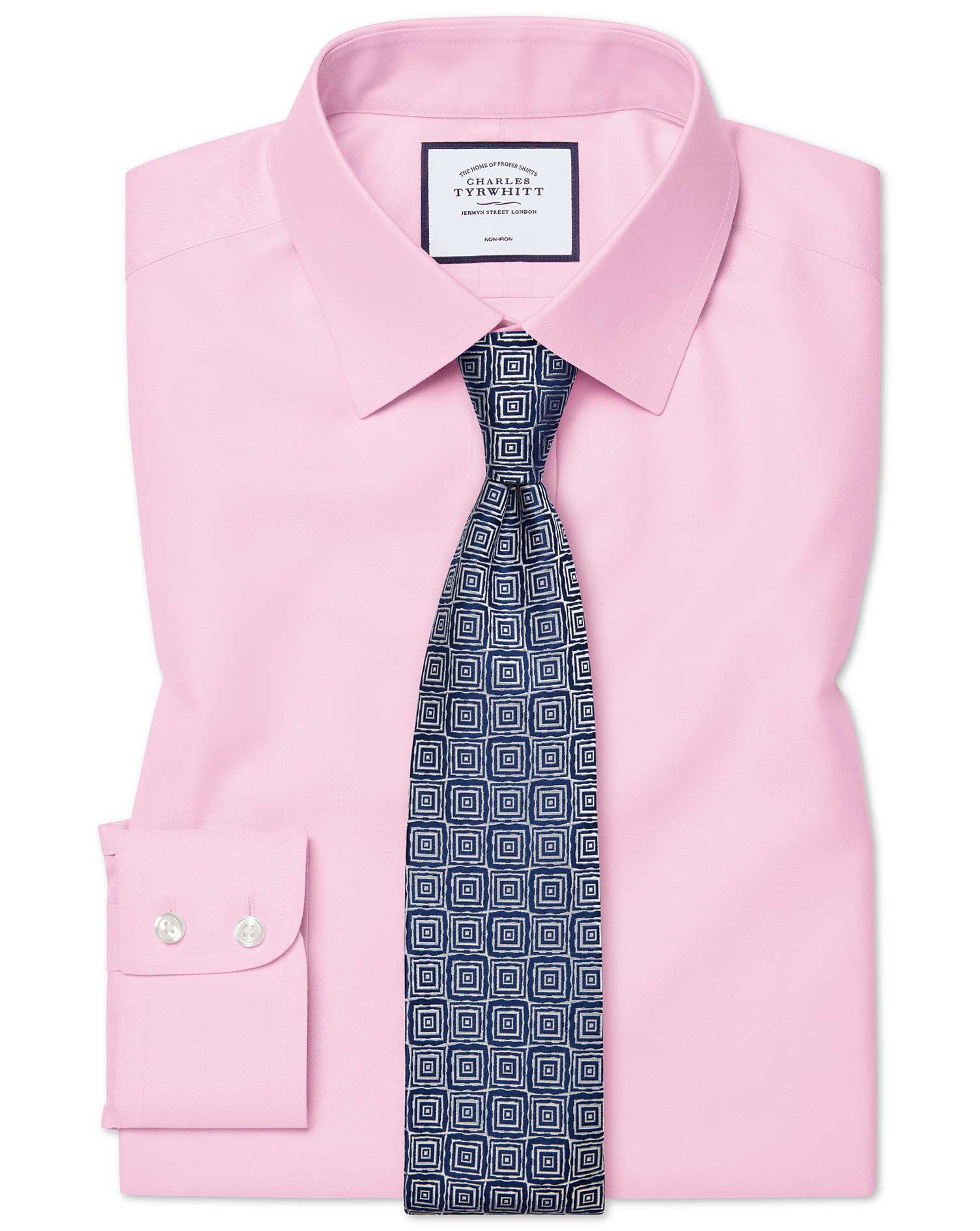 Slim fit pink non.