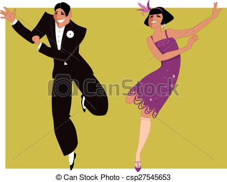 Clipart Vector of Dancing the Charleston.