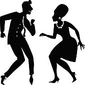 Clipart of Flapper dancing the Charleston k23926840.