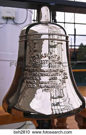 Stock Photography of USS Constitution ships bell on the Freedom.