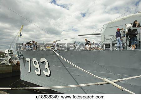 Stock Photograph of Boston, MA, Massachusetts, Charlestown Navy.