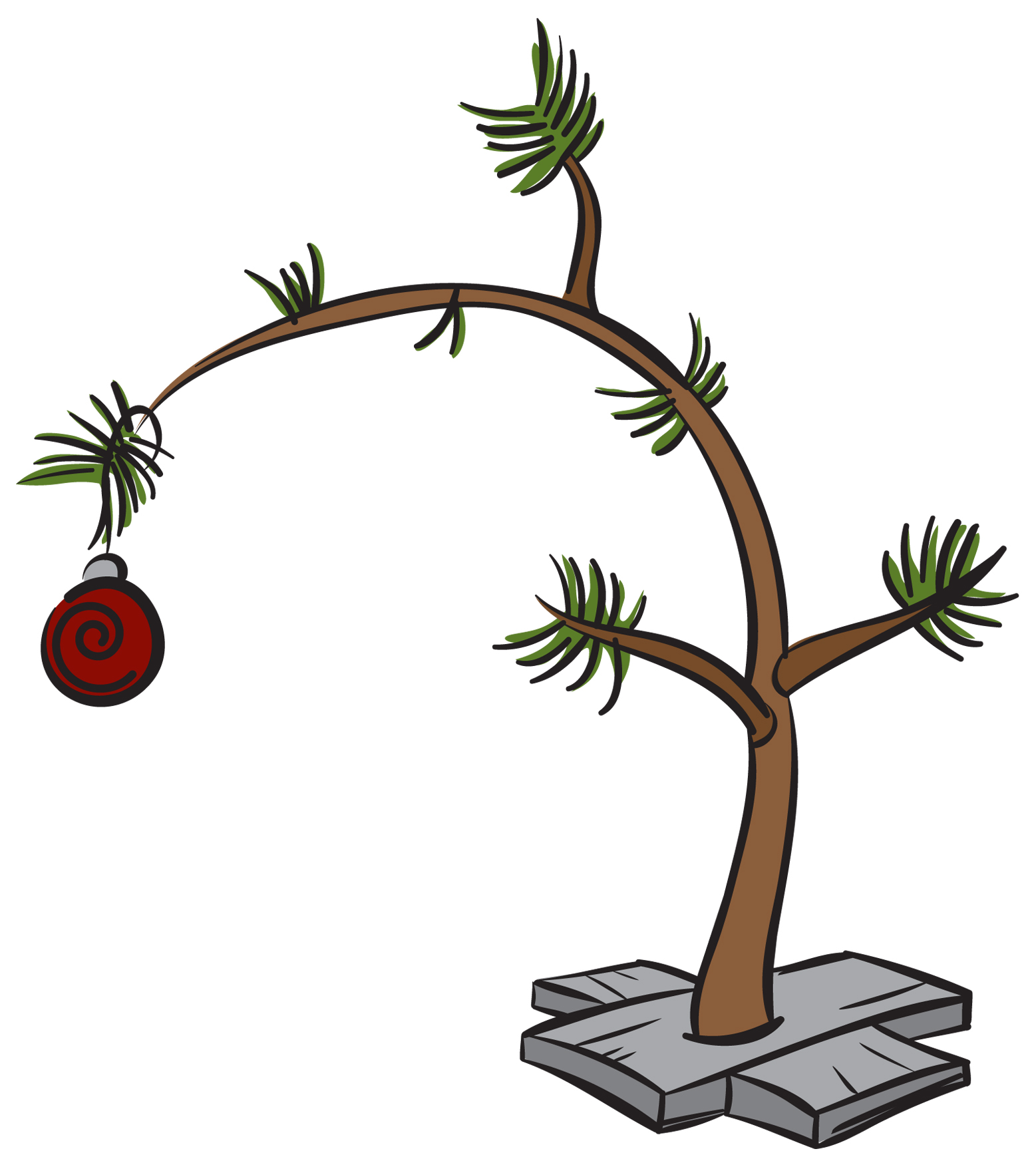 Clip Art Charlie Brown Christmas Tree.