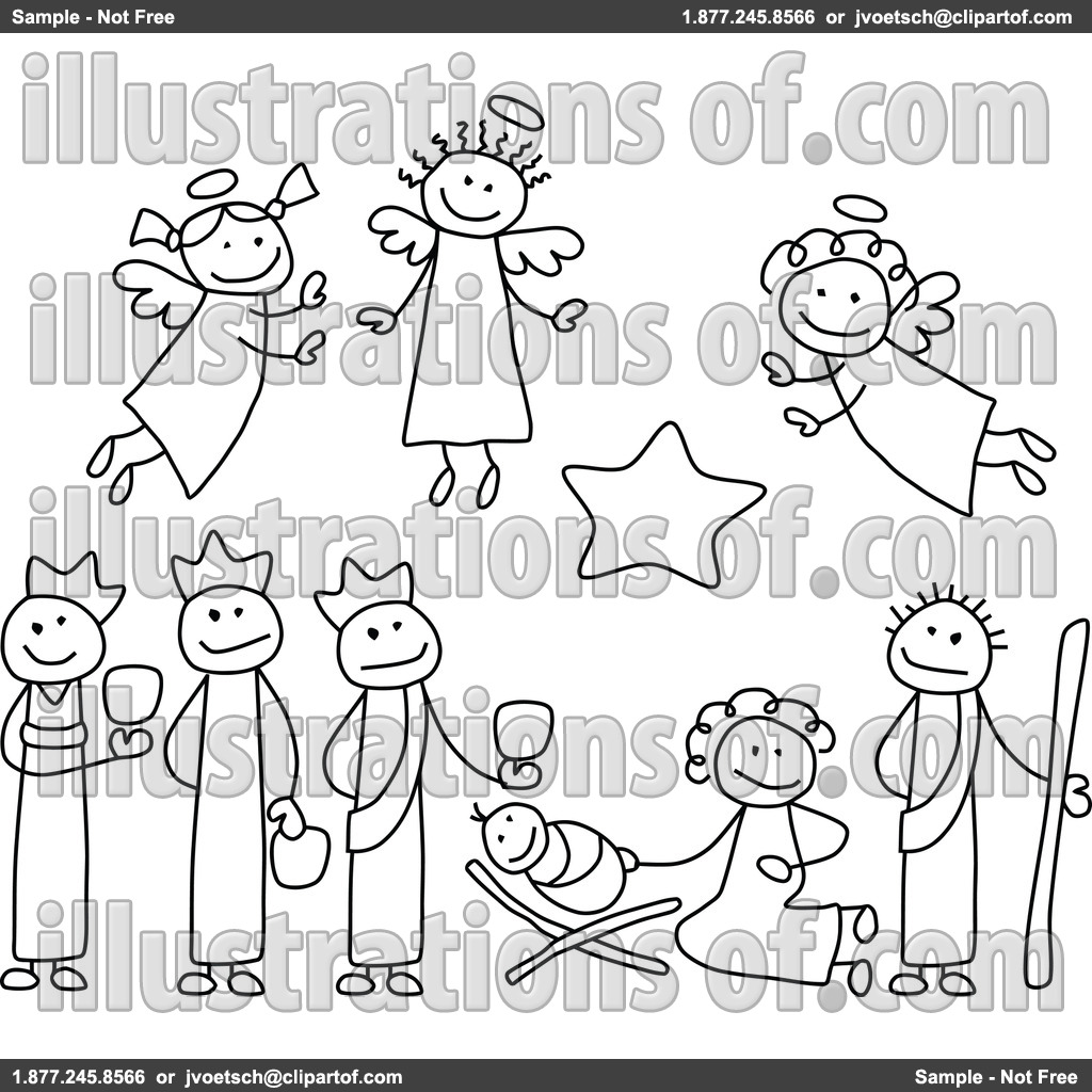 Free Christmas Clip Art Nativity Scene Nativity Clipart By C.