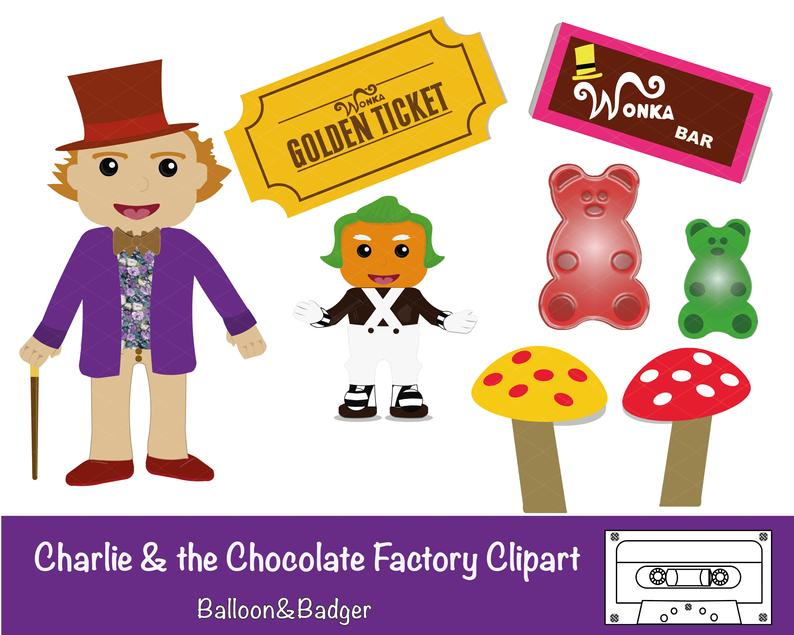 Charlie & the Chocolate Factory Clipart Pack.
