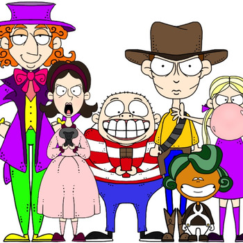 Charlie and the Chocolate Factory Inspired Clip Art.
