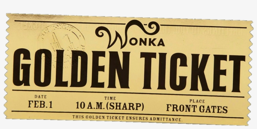 Golden Ticket Charlie And The Chocolate Factory Song Transparent PNG.