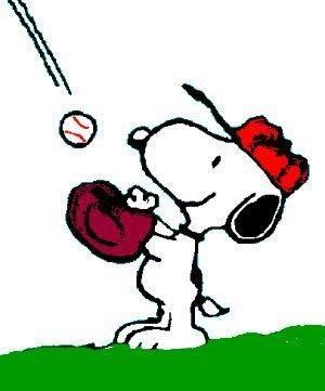 Baseball Snoopy by dorothy.