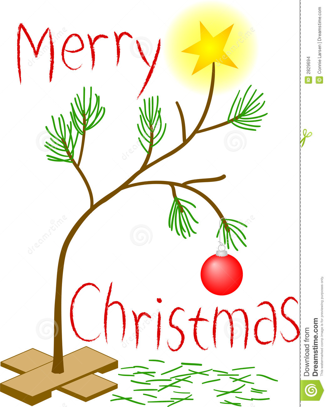 Sad Little Christmas Tree stock illustration. Illustration of.