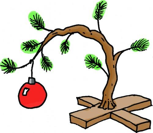 Charlie brown christmas charlie brown tree the haugh herald clip art.