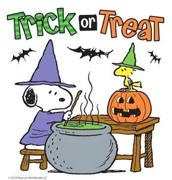 Halloween Snoopy And Trick Or Treat Charlie Brown Peanuts Quotes.