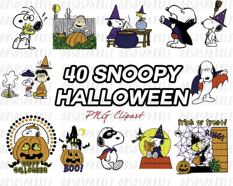 snoopy clipart, halloween clipart, clip art, peanut clipart, png file,  charlie brown clipart, printable, cartoon clipart.