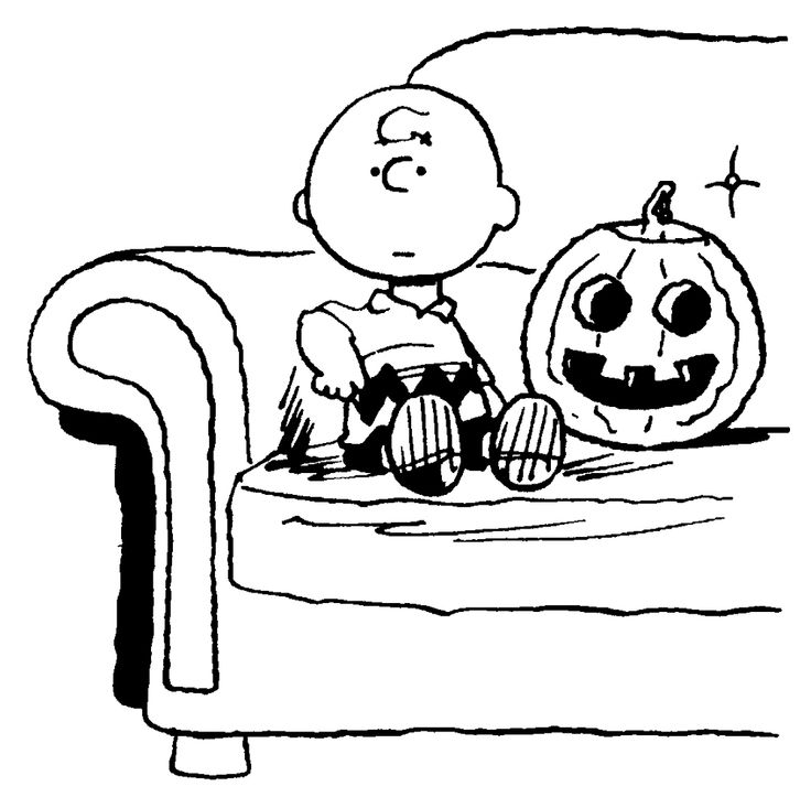 Charlie Brown Halloween Clipart Black And White.