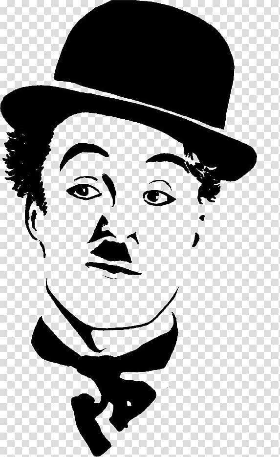 Charlie Chaplin illustration, The Tramp Drawing Chaplin: His Life.