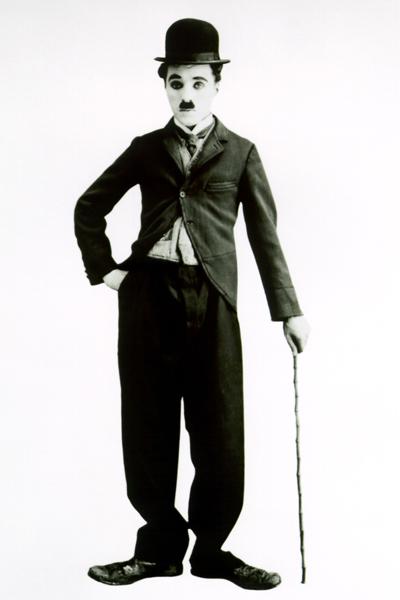 Charlie Chaplin Black and White 4x6 Clip Art.