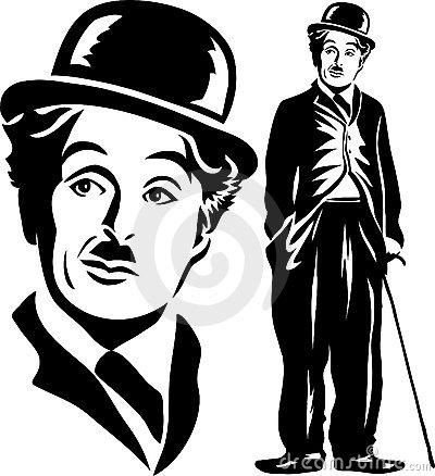 Charlie Chaplin Clip Art.