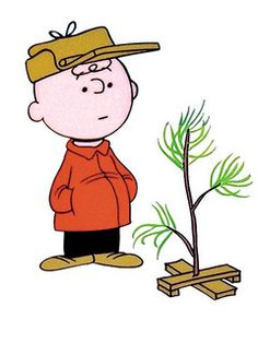 Charlie brown christmas tree free clipart.
