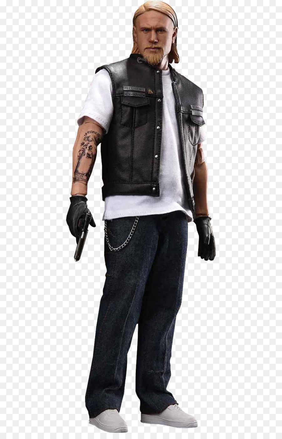 Charlie Hunnam Leather Jacket png download.