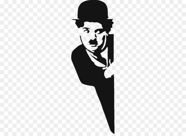 Charlie Chaplin Stencil The Tramp Sticker.