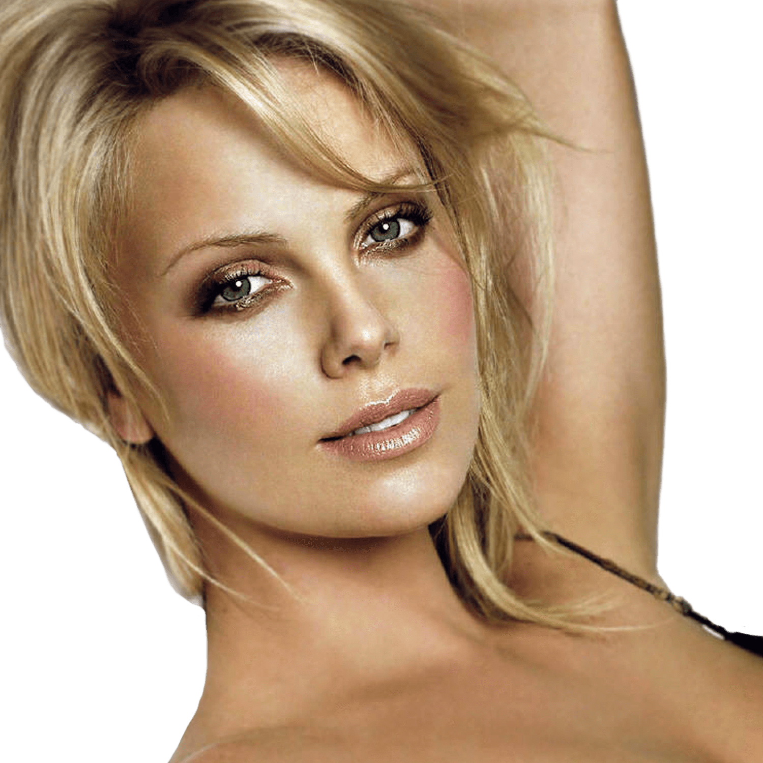 Charlize Theron Face transparent PNG.