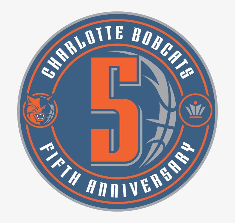 Charlotte Bobcats 5th Anniversary Logo.