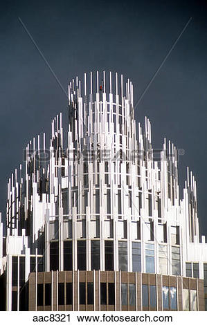 Stock Photography of The crown on the Bank of America tower in.