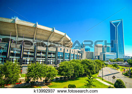 Picture of Skyline of Uptown Charlotte, North Carolina. k13992937.