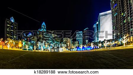 Pictures of charlotte north carolina city skyline k18289188.