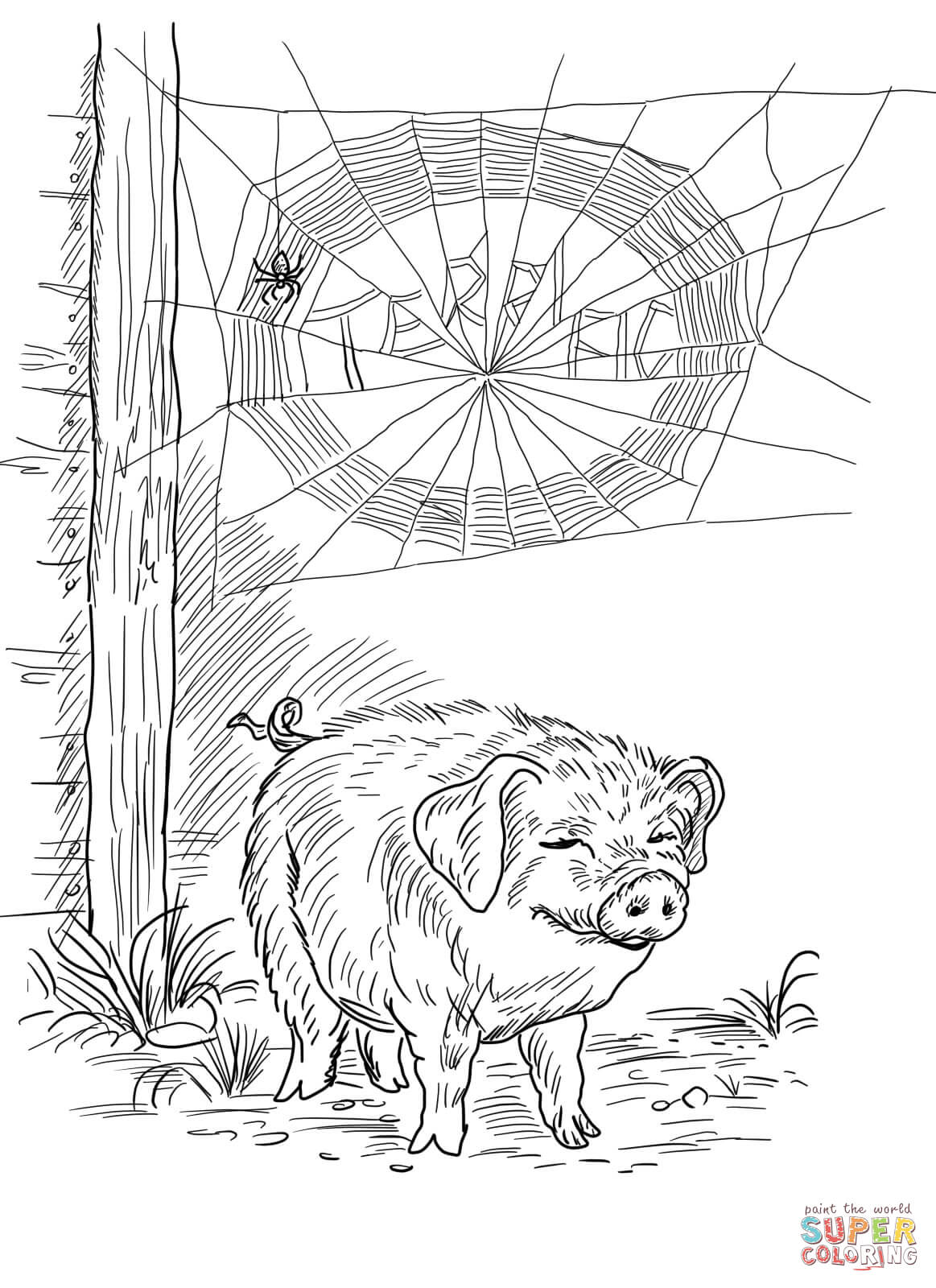 Free Charlottes Web Coloring Pages, Download Free Clip Art.
