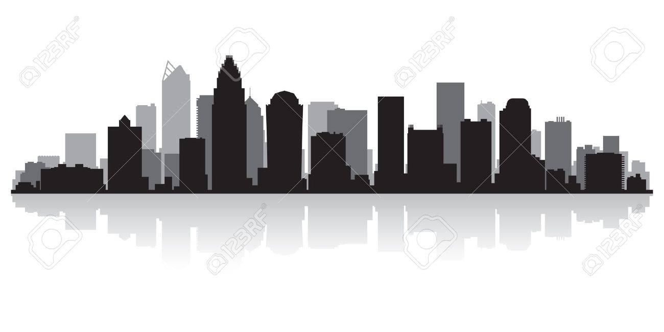 245 Charlotte Skyline Stock Vector Illustration And Royalty Free.