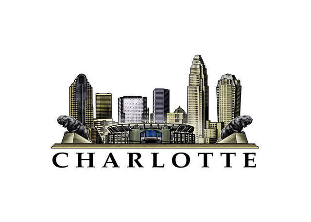 Charlotte Skyline Sketch at PaintingValley.com.