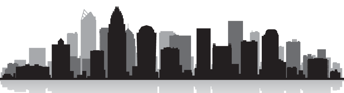 Charlotte Skyline Vector graphics Royalty.