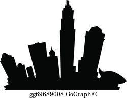 Charlotte Skyline Clip Art.
