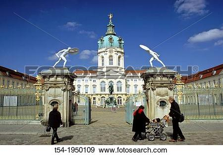 Stock Photograph of Charlottenburg Palace in Berlin t54.