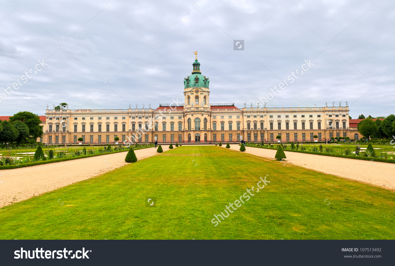 English Garden Royal Palace Charlottenburg Berlin Stock Photo.