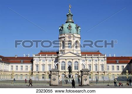 Stock Image of Facade of building, Charlottenburg Palace, Berlin.