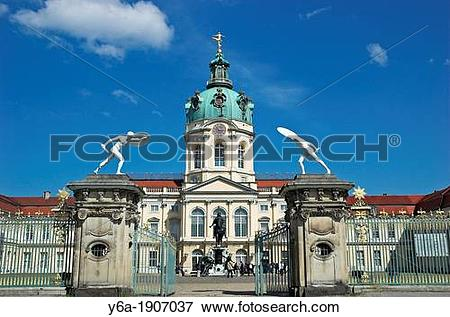 Picture of Charlottenburg Palace, entrance gate, Berlin Germany.