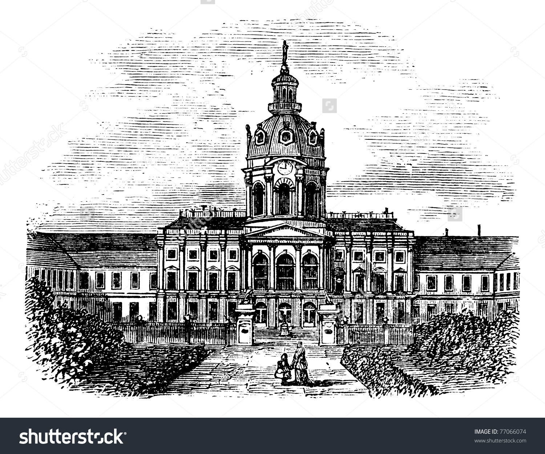 Charlottenburg Royal Palace Berlin Germany During Stock Vector.