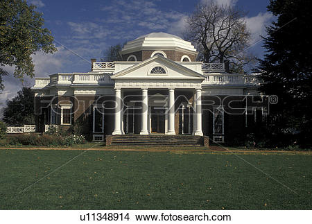 Stock Photo of Monticello, Charlottesville, VA, Virginia.