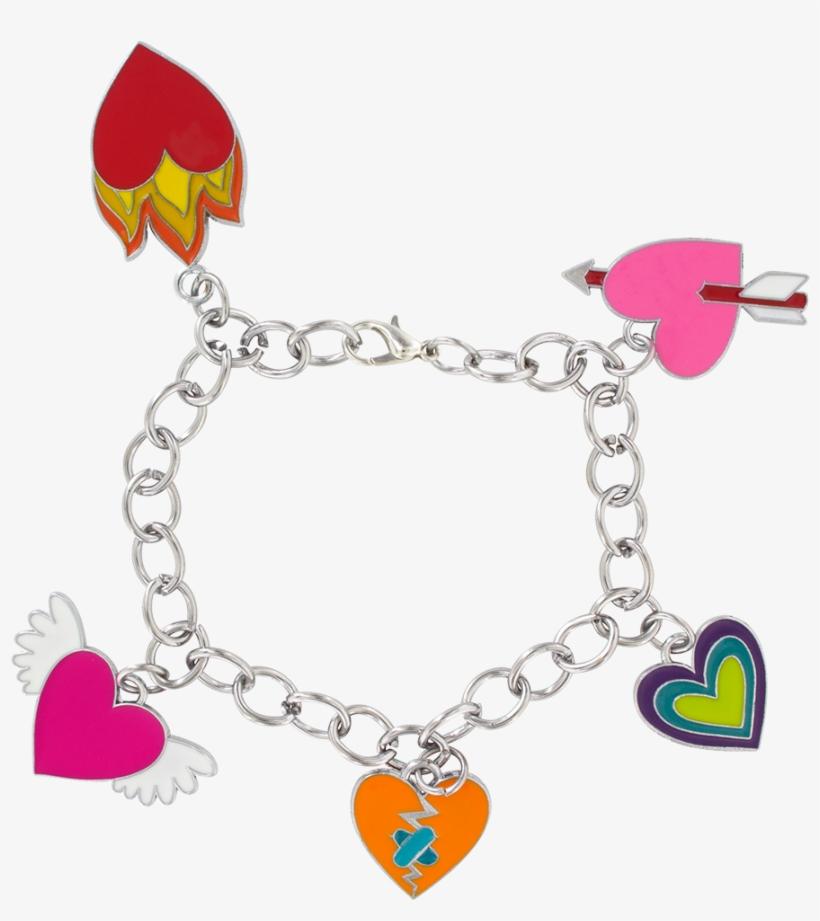 Charmant Bracelet Heart Pylones Charms.