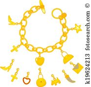 Charm bracelet Clip Art and Illustration. 83 charm bracelet.