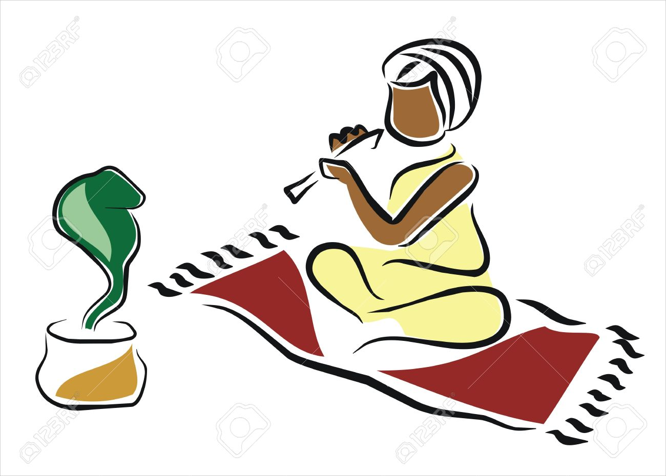Snake Charmer In India Royalty Free Cliparts, Vectors, And Stock.