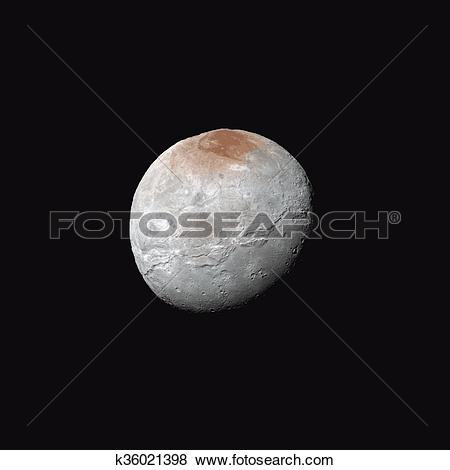 Clip Art of vector realistic Charon moon illustration k36021398.
