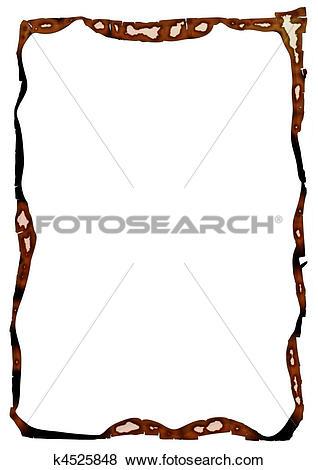 Stock Illustration of charred edges k4525848.