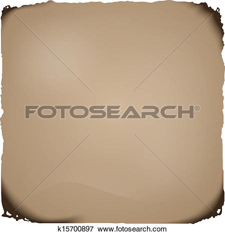 Clip Art of Charred paper k15700897.