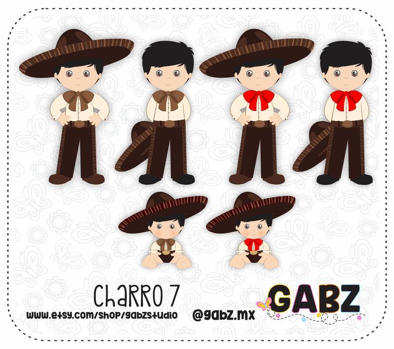 Charro 7, Mexican Folklore, Clipart, 5 de Mayo, Aztec, Decorative,  Communion, Mexican, Fiesta, Gabz.
